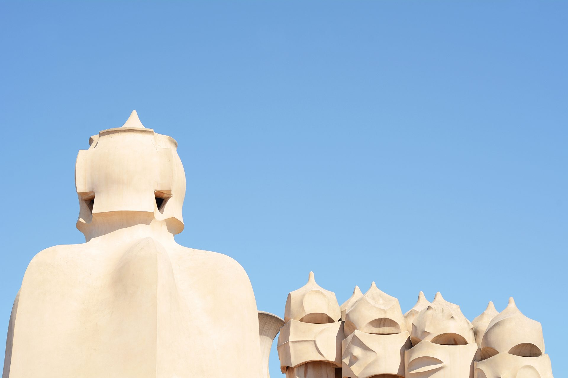 Casa Mila La Pedrera Building In Barcelona, Spain.