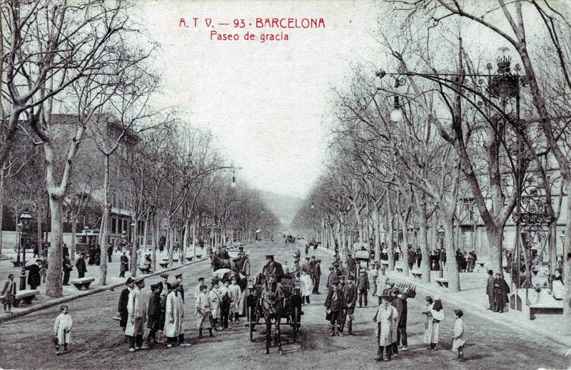 Passeig de Gracia Barcelona Historia Oferta Cultural